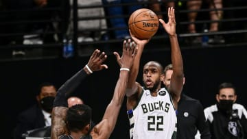 Khris Middleton is taking and making the crunch time shots for the Bucks.