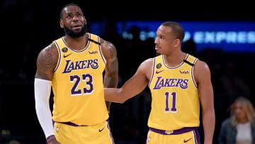 LeBron James y Avery Bradley jugaron juntos en los Lakers buena parte de la campaña pasada