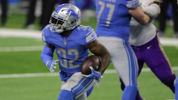 RB D'Andre Swift's fantasy outlook is rising after being named The Athletic's 2021 Detroit Lions breakout pick.