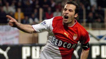 Monaco's forward Ludovic Giuly jubilates