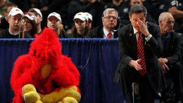 Iona Gaels head coach Rick Pitino with the Louisville Cardinals