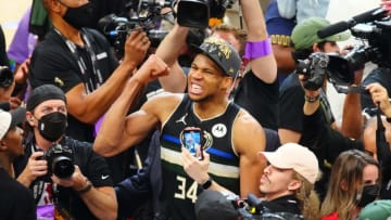 Giannis Antetokounmpo and the Milwaukee Bucks will try and repeat as NBA champions. | Mark J. Rebilas-USA TODAY Sports