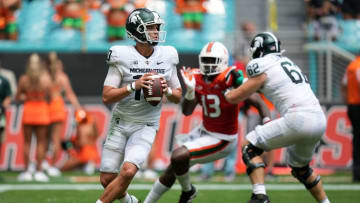 Michigan State Spartans upset the Miami Hurricanes on Saturday, winning by 21 points as a road underdog.   Jasen Vinlove-USA TODAY Sports