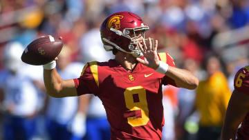 USC football quarterback Kedon Slovis.