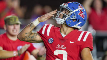 Ole Miss quarterback Matt Corral has seen his Heisman Trophy odds catapult from +2000 to the favorite at +180.   Marvin Gentry-USA TODAY Sports