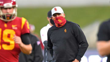 USC football head coach Clay Helton