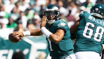 Jalen Hurts and the Eagles face the Cowboys in Week 3. | Bill Streicher-USA TODAY Sports