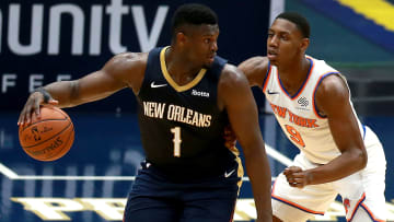 Zion Williamson against the New York Knicks.