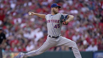 Zack Wheeler pitches for the Mets