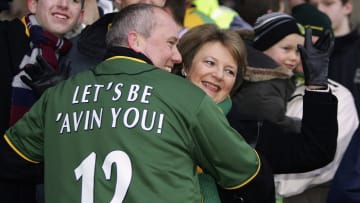 Delia pictured with one of her many fans