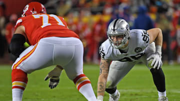 Raiders edge rusher Maxx Crosby says he's going to sack Patrick Mahomes next season.