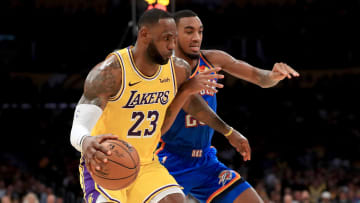 The Los Angeles Lakers take on the Oklahoma City Thunder on Saturday night