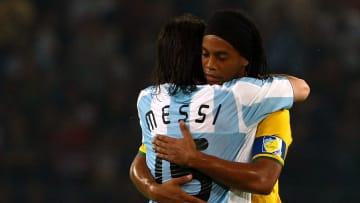 Messi y Ronaldinho en los JJOO