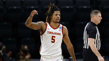 USC basketball forward Isaiah White.