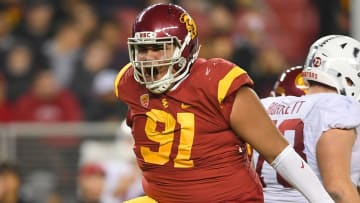 USC football defensive lineman Brandon Pili.