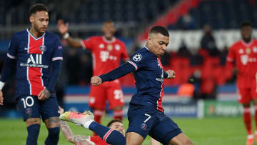Mbappé in azione in Psg-Bayern Monaco