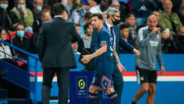Mauricio Pochettino et Lionel Messi.