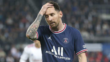 Messi was brought off in PSG's win over Lyon