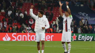 Thiago Silva et Marquinhos PSG.