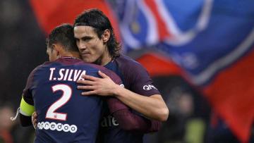 Thiago Silva y Edinson Cavani