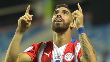 Peru v Paraguay: Quarterfinal - Copa America Brazil 2021 - Ávalos grita su gol.