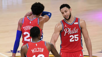 Ben Simmons and teammates