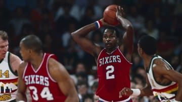 Moses Malone was the Rockets franchise player, but his career took off even higher when he was traded to Philadelphia in 1982.
