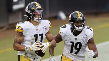 Chase Claypool, JuJu Smith-Schuster, Pittsburgh Steelers v Jacksonville Jaguars