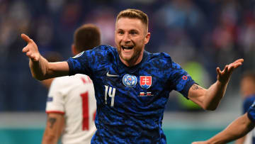 Milan Skriniar won it for Slovakia against Poland in the second half