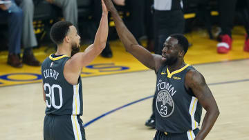 Golden State Warriors stars Draymond Green and Steph Curry
