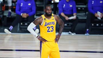 LeBron James, Portland Trail Blazers v Los Angeles Lakers - Game One