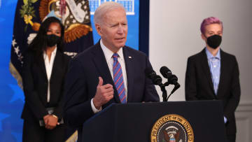 Joe Biden speaks on Equal Pay Day