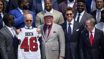 President Biden Hosts Super Bowl LV Champions Tampa Bay Buccaneers At The White House
