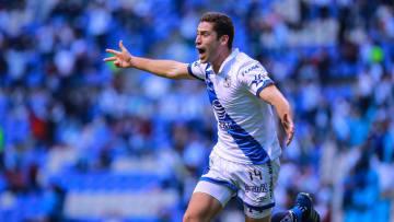 Santiago Ormeño celebra un gol.