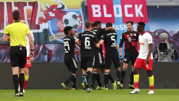 Bayern Munich celebrate their goal