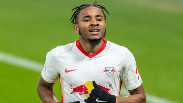 Christopher Nkunku möchte mit RB Leipzig endlich Meister werden.
