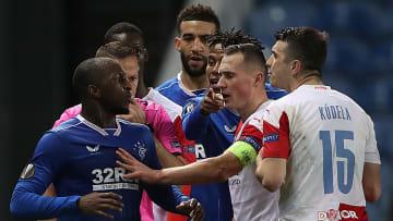 Glen Kamara accused Slavia Prague's Ondrej Kudela of racially abusing him
