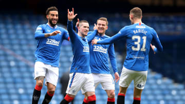Rangers stars celebrate on the brink of title glory