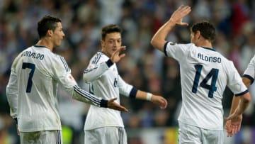 Cristiano Ronaldo, Mesut Ozil, Xabi Alonso