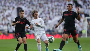 Luka Modric, Sergio Reguilon, Diego Carlos