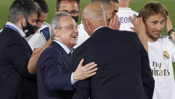 Zinedine Zidane, Manager of Real Madrid, Florentino Perez