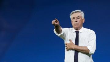 Ancelotti on the touchline