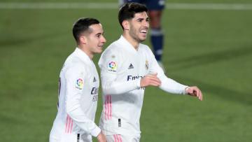 Lucas y Marco Asensio, goleadores del Madrid ante el Celta