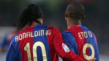 Ronaldinho e Eto'o estão na lista | Real Sociedad v Barcelona