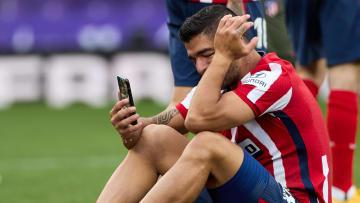 Luis Suárez emocionado al ganar el título de La Liga.