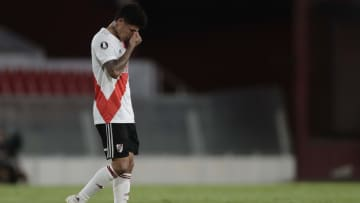 Carrascal salió expulsado del partido frente a Palmeiras en la ida de la semifinal de la Libertadores