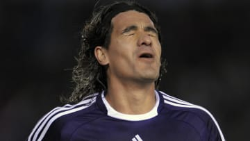 River Plate's midfielder Ariel Ortega re