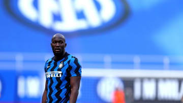 Romelu Lukaku of Fc Internazionale  looks on during the...