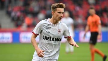 Spielte in der Jupiler Pro League bisher sechsmal für Antwerpen und blieb dabei ohne direkte Torbeteiligung: Johannes Eggestein