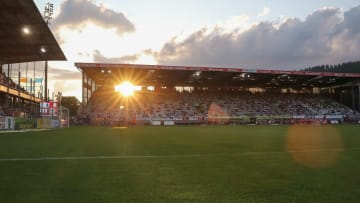 Das Dreisamstadion in Freiburg.